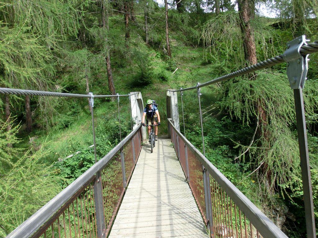Brücke vor der Galmein Alm