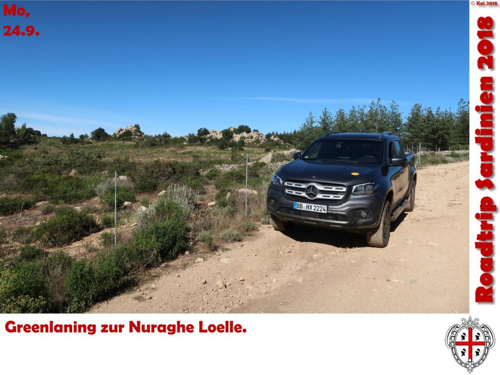 Greenlaning zur Nuraghe Loelle