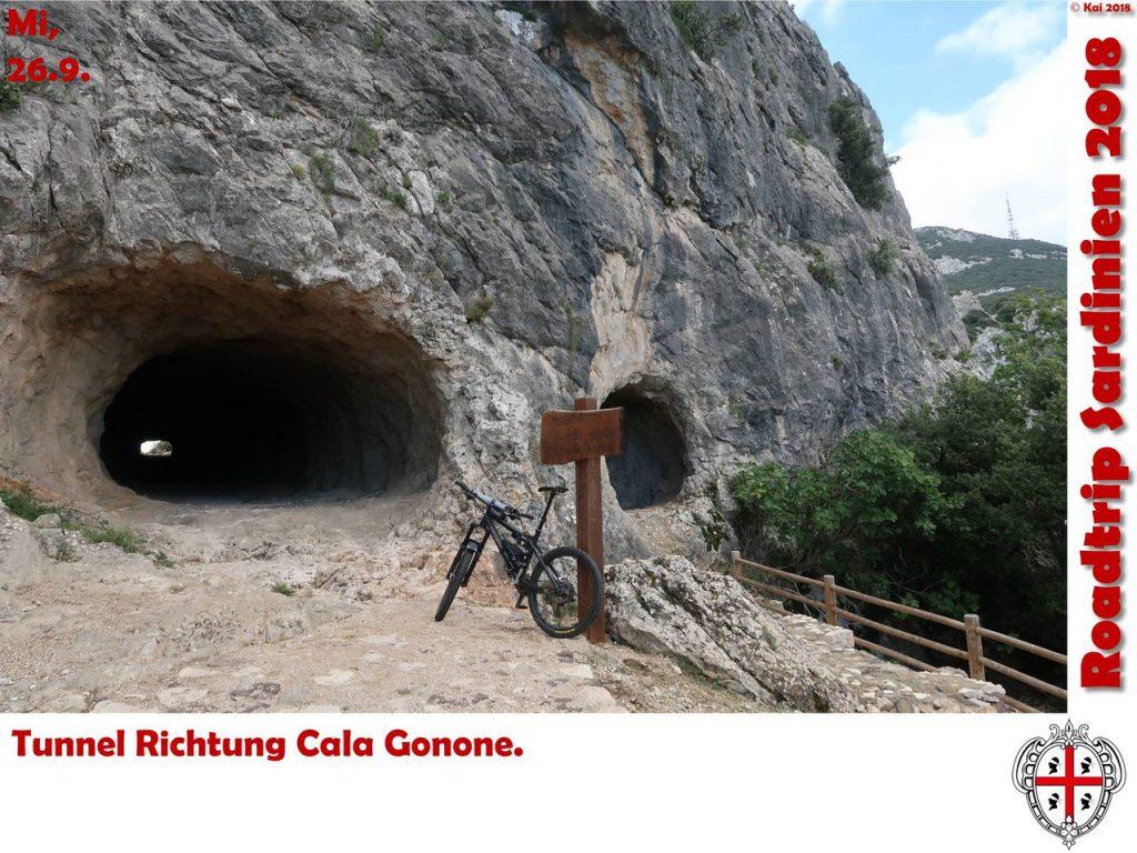 Tunnel Richtung Cala Gonone