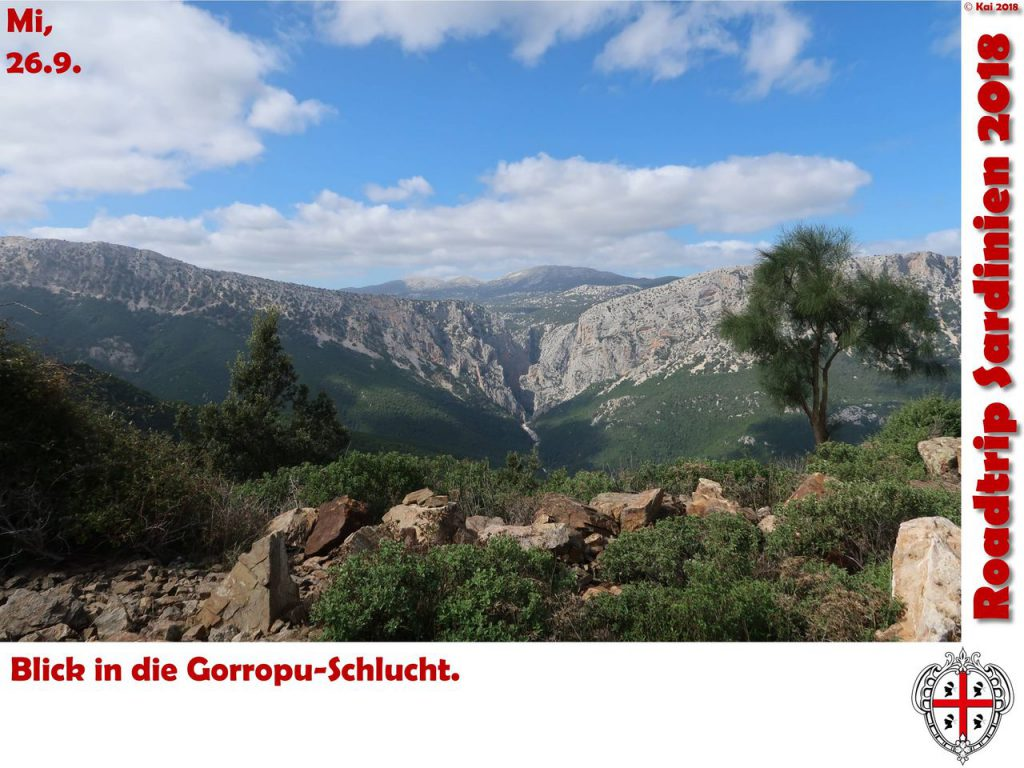 Blick zur Gorropu-Schlucht