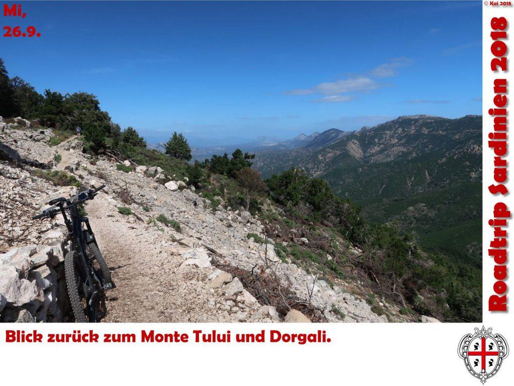 Blick zum Monte Tului und nach Dorgali