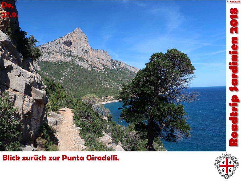 Blick zurück zur Punta Giradeli